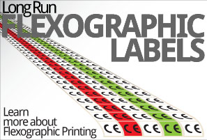 long run flexographic labels